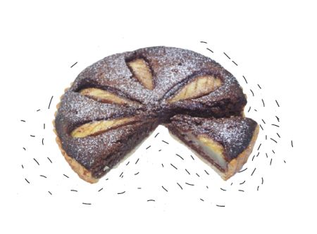 Шоколадно-грушевий пиріг