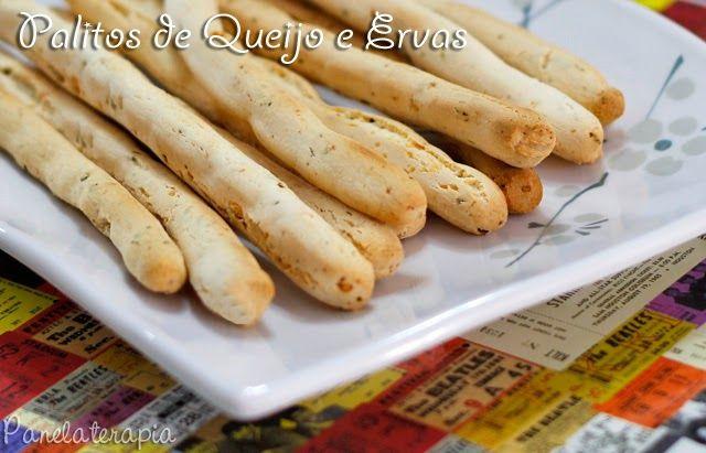 PANELATERAPIA - Blog de Culinária, Gastronomia e Receitas: Palitos de Queijo e Ervas