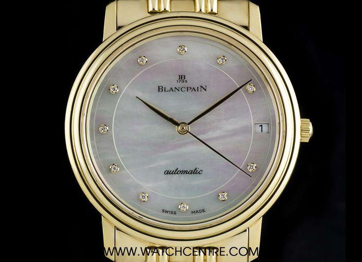 #Blancpain 18k Yellow #Gold #MotherOfPearl #Diamond Dial Gents Dress #Watch