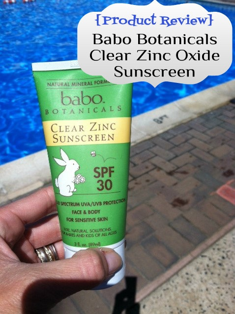 Babo Botanicals Clear Zinc Oxide Sunscreen SPF 30. All