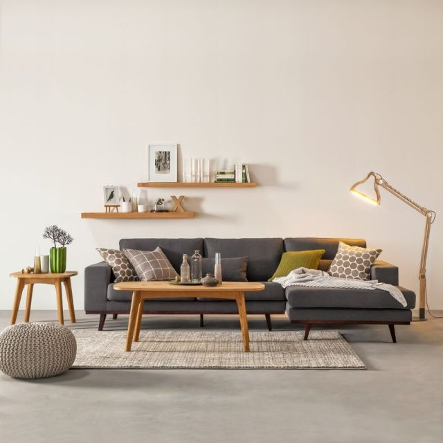 Corner Sofa With Long Chair By Morteens At Home24 Scandinavian Design Trends Have Best Home Decor Minimalist Living Room Living Room Scandinavian Living Room Designs