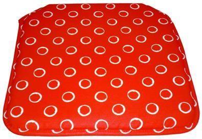 https://www.catayhome.es/categoria/cojines-de-sillas/ #cojines para sillas de cuadrado rojo circulos