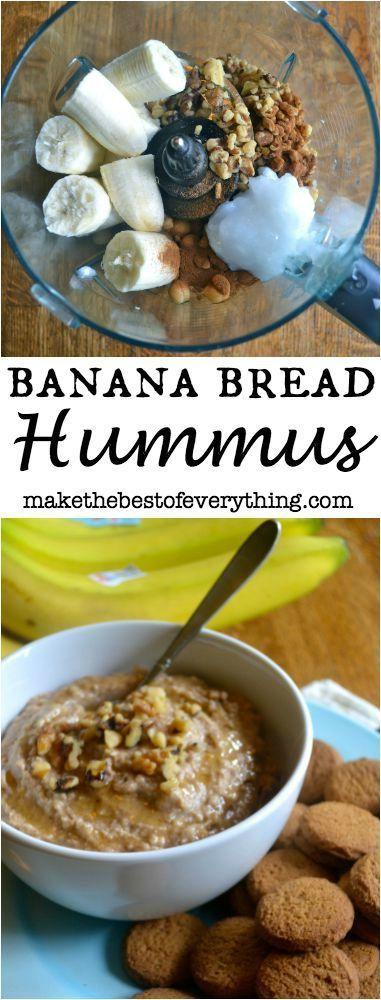 Banana Bread Hummus is outstanding!  It tastes exactly like banana bread!