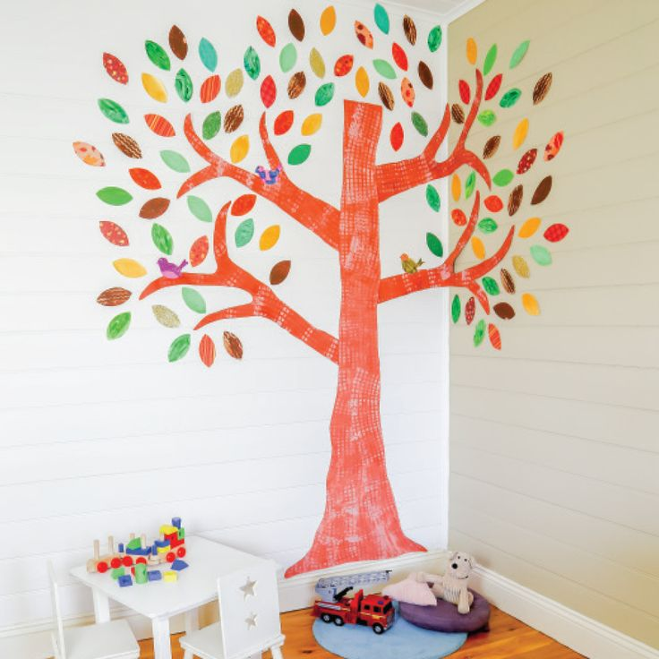 Bring Nature to your kids play room with this fabric wall tree.