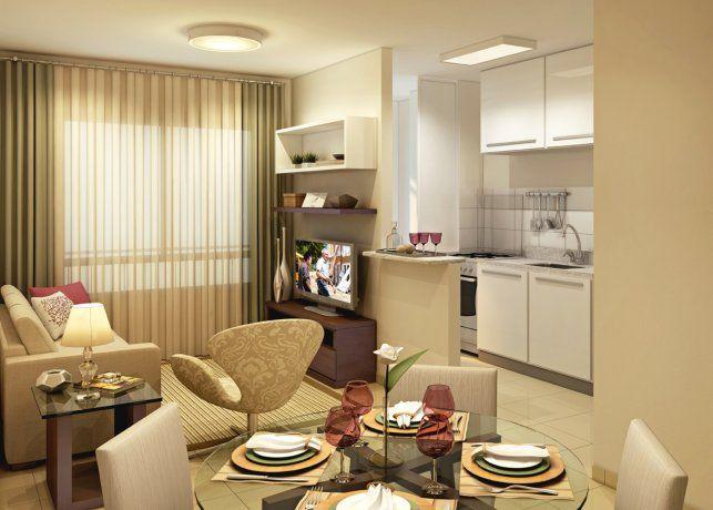 Decora o de apartamento de 50m2 pesquisa google salas for Decorar casa 45 m2