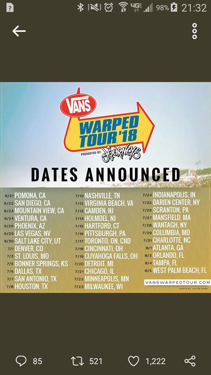 I just have to go because this is supposed to be the last warped tour which means my last chance to go!