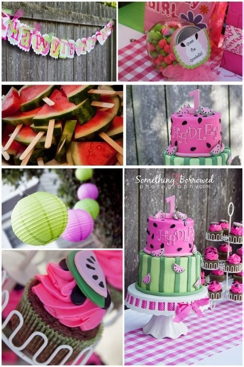 Watermelon 1st birthday party theme!!