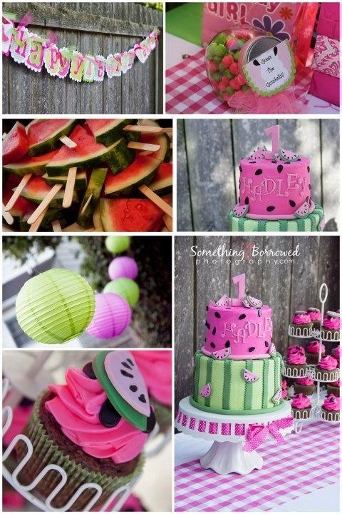 Watermelon 1st birthday party theme!!