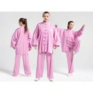 Tai Chi is easy to learn for health improvement. Tai Chi has gentle and circular movements http://www.icnbuys.com/tai-chi-uniform-silk-satin-suit-for-men-and-women-pink.html