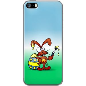 The Easter Bunny wishes you Happy Easter By CardVibes for Apple  iPhone 5/5s #TheKase #Cardvibes #Tekenaartje #iPhone #Smartphone #cover #case