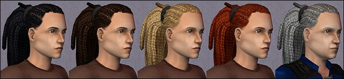 Remi, Retexture of Sims 2 Store afhaircornrowbeads +...