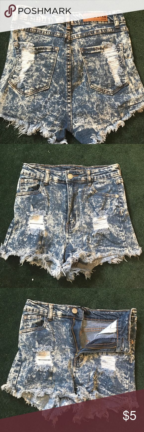 High wasted acid wash shorts High wasted, acid wash, short shorts from Charolette Russe! Charlotte Russe Shorts Jean Shorts