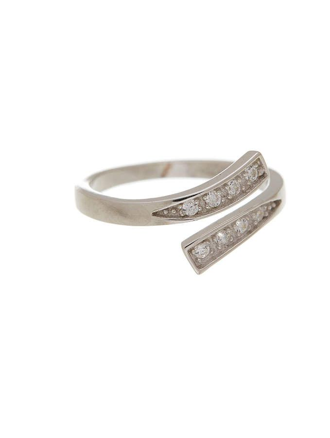83fa70868 Cubic Zirconia & Sterling Silver Line Toe Ring #touch#Add#Ring ...