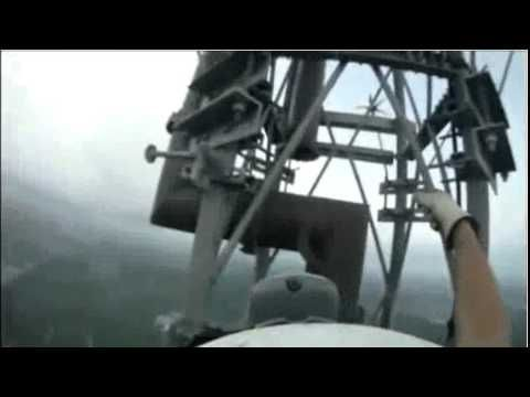 The scariest video ever if you are afraid of heights. I wouldn't do this job for any amount of money!