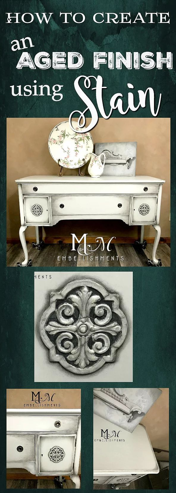 A friend of mine recently inherited some furniture from her Great Aunt Helen. She asked if I would help to revitalize their look. I went to take a