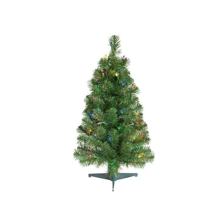 2ft Prelit Artificial Christmas Tree Alberta Spruce Multicolored Lights - Wondershop, Green