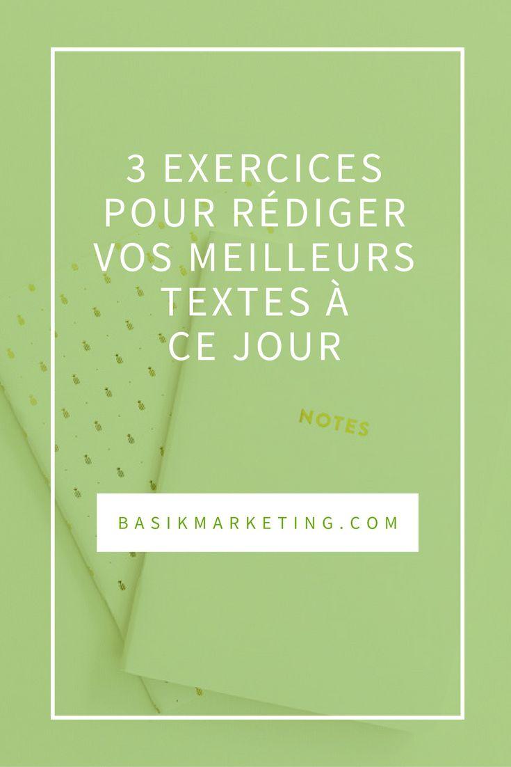 3 exercices pour rédiger vos meilleurs textes à ce jour | BASIK