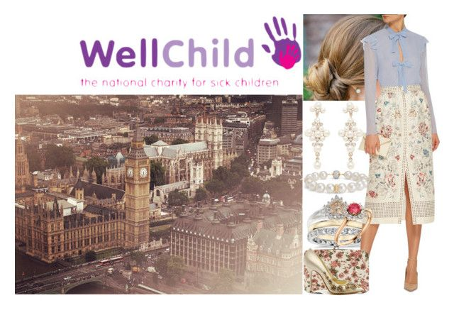 """Visiting """"WellChild"""" in London and having a short interview with a DailyMail reporter by charlottedebora on Polyvore featuring polyvore fashion style Vilshenko Forever New Blue Nile Casadei INDIE HAIR clothing"""