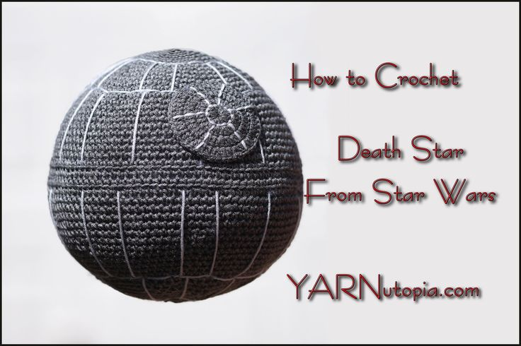 In this video I demonstrate how to crochet a Death Star from Star Wars. This is not an original pattern. Please see these links for more information: Materia...