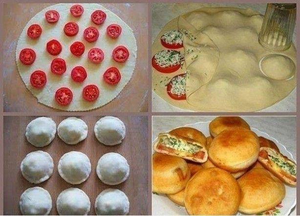 in de oven - 15 min, Tomaat-5 stuks Witte kaas (Feta) of kwark-200gr Knoflook-2 teentjes Kruiden Zout