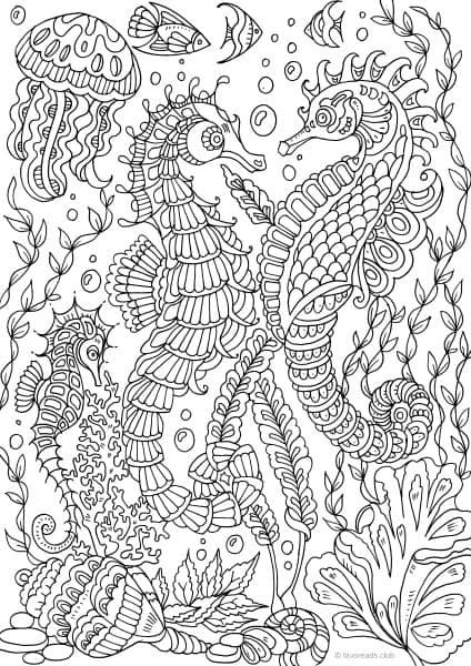 Awesome Sea Life Coloring Pages