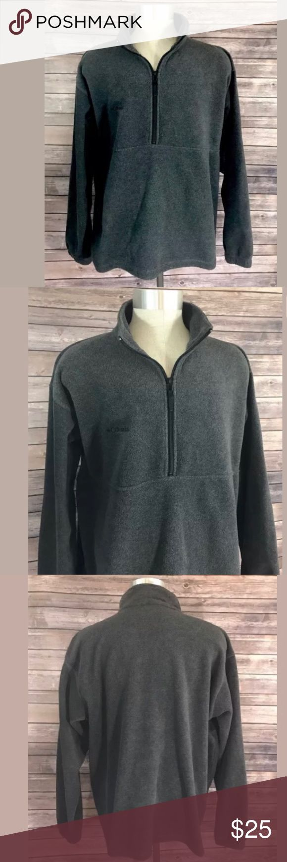 Columbia Fleece Jacket Mens Size XL Gray Half Zip Columbia Fleece Jacket Mens Size XL Gray Half Zip Pullover Outerwear. Measurements: (in inches) Underarm to underarm: 27 Length: 27.5 Columbia Jackets & Coats Ski & Snowboard