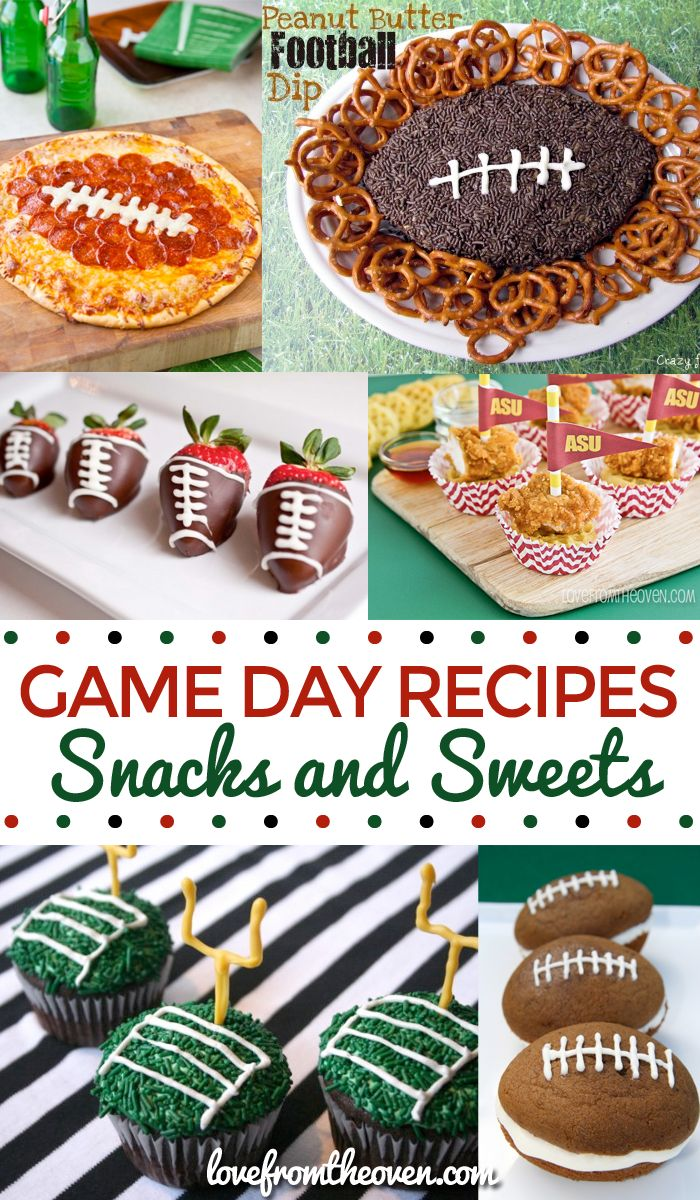 Game Day Snacks And Sweets