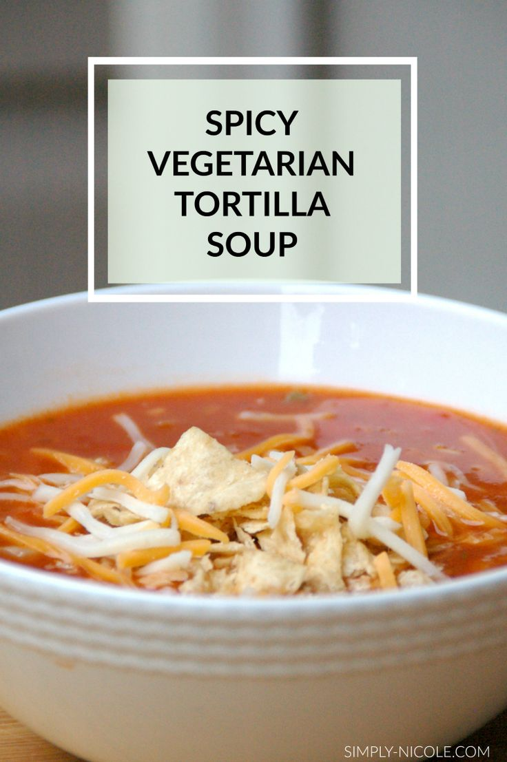 Spicy vegetarian tortilla soup recipe