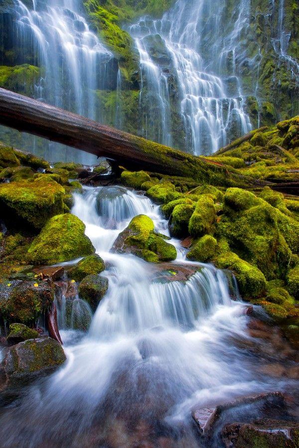 15 Beautiful Waterfalls From Around the World, Proxy Falls, Oregon