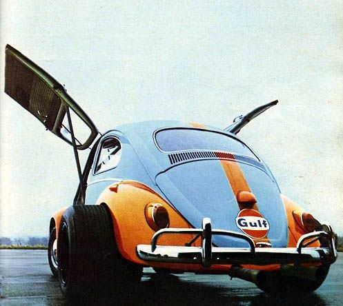 This is a gullwing VW Beetle. Your move, Mercedes-Benz.