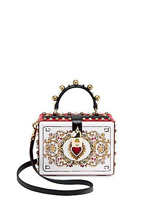 cb1f9b4f02 Dolce   Gabbana Embellished Convertible Leather Clutch