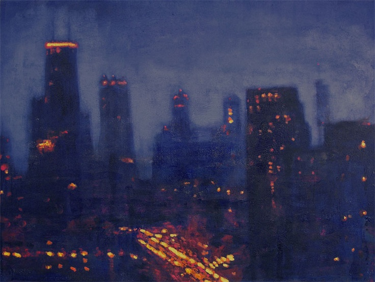 Chicago Contemporary Art...Art About Chicago From Chicago: Chicago Skyline Paintings (from my window)