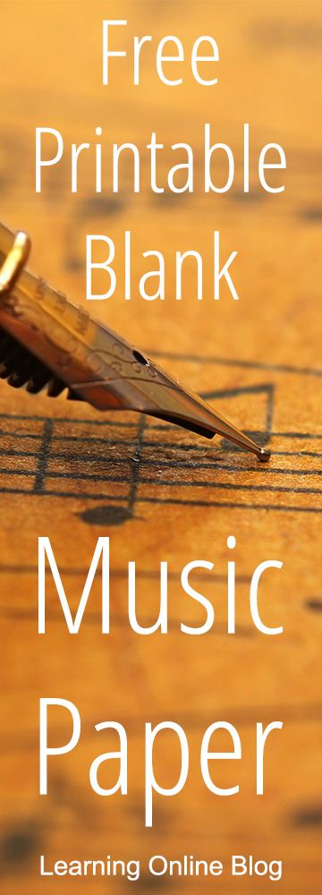 Here's where to get free printable blank music paper.