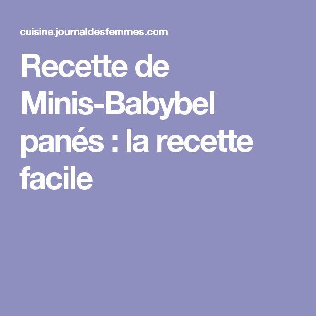 Recette de Minis-Babybel panés : la recette facile