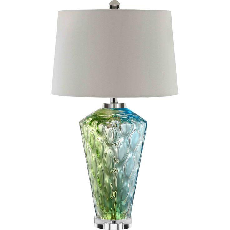 sheffield glass 1light blue green table lamp shopping