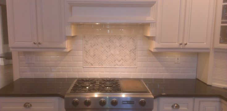 Travertine Marble Backsplash