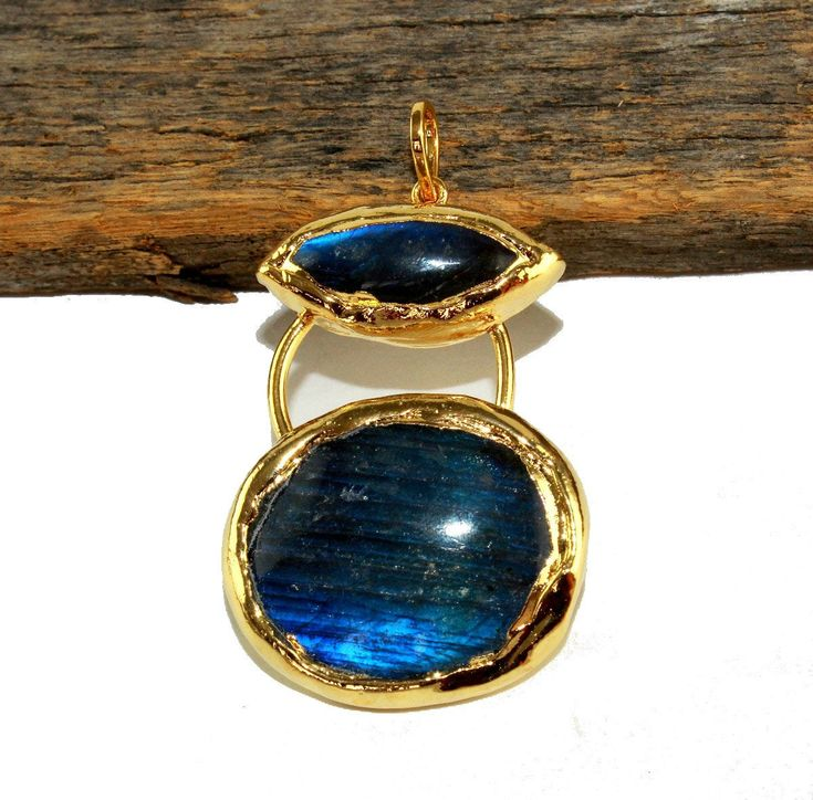 60x34mm 24kt Gold Electroplated Labradorite Oval Gemstone Pendant  Handcrafted Designer Pendant  Bohemian Pendant  DIY Jewelry Making L43