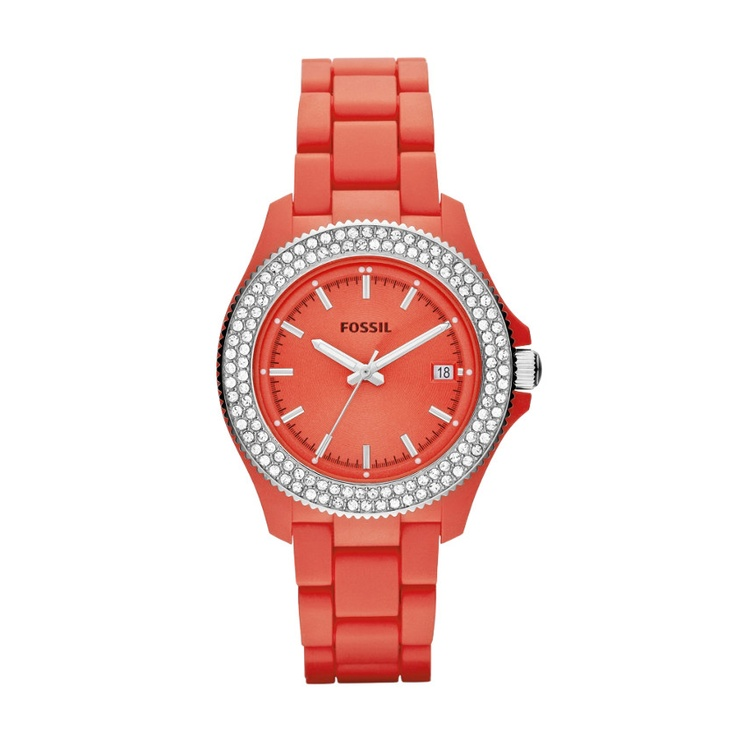 FOSSIL® Watch Collections Retro Traveler Watches:Women Retro Traveler Resin Watch - Coral AM4469