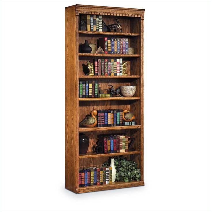 Kathy Ireland Home Huntington Oxford 7 Shelf 84 H Wood Bookcase In Wheat