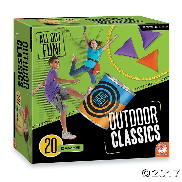 This all-in-one kit introduce kids to time-tested backyard games including Kick the Can, Beanbag Toss, Capture the Flag, Three-Legged Race and much more.  ...