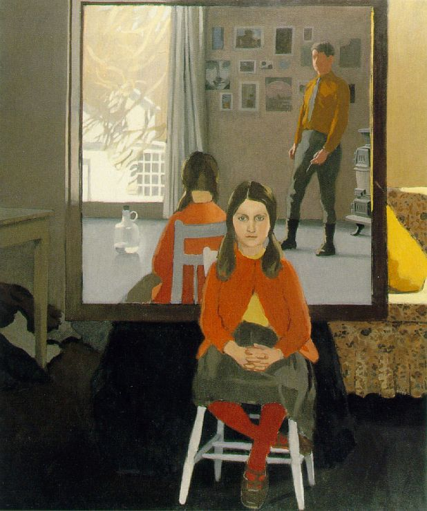 Porter, Fairfield  The Mirror  1966  Oil on canvas  72 x 60 in  The Nelson-Atkins Museum of Art, Kansas City