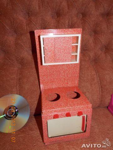 Игрушечная плита (красная, жестяная). Игрушки СССР - http://samoe-vazhnoe.blogspot.ru/ #игрушки_кухня