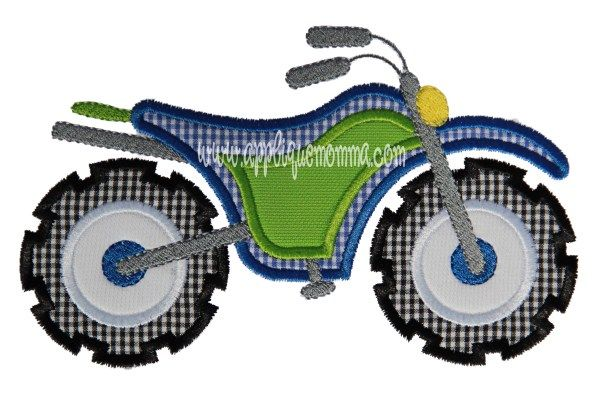 Dirt Bike Applique Do this for my kids and my brothers