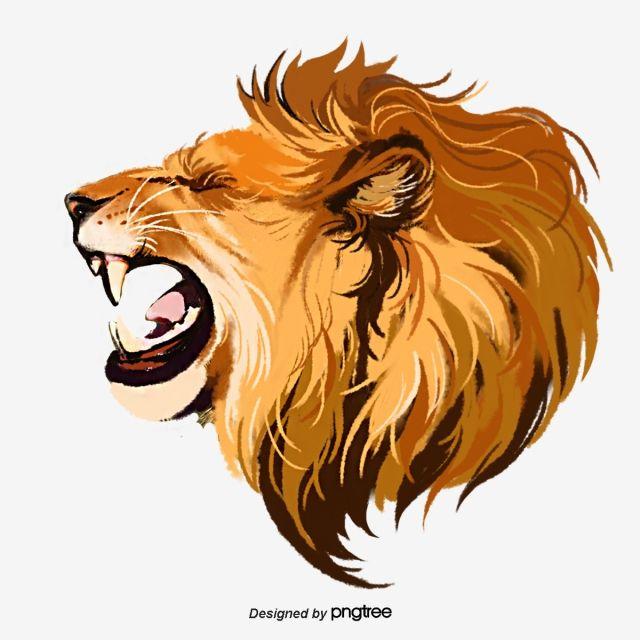 رسمت باليد عناصر الوحش الأسد هدير الأسد الملك المرسومة ذكر الأسد شرس Png وملف Psd للتحميل مجانا Roaring Lion Drawing Lion Painting Male Lion