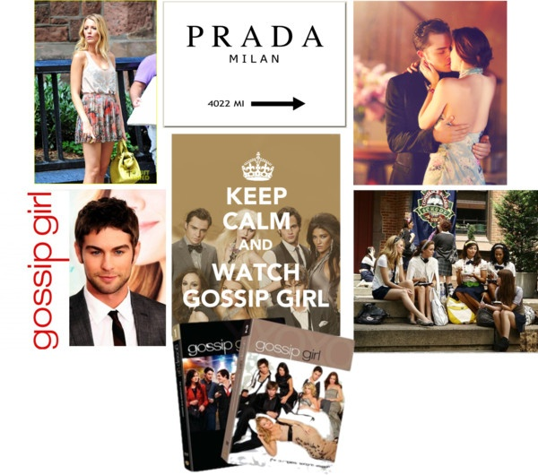 """Keep Calm and Watch Gossip Girl (from the begining!)"" by tink1014 ❤ liked on Polyvore"
