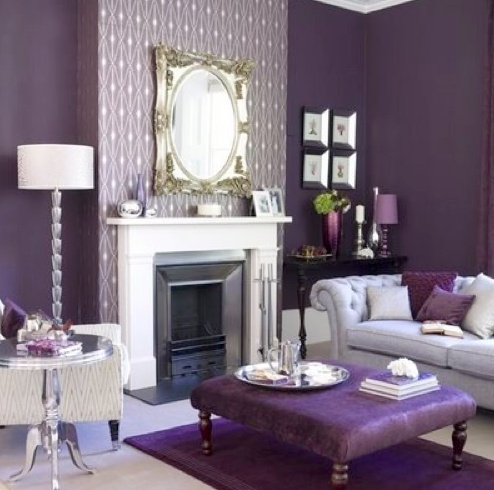 I want this purple living room really bad