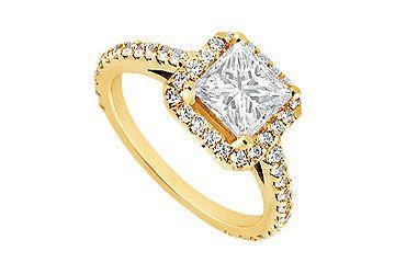Diamond Engagement Ring : 14K White Gold – 1.25 CT Diamonds – 5 ...