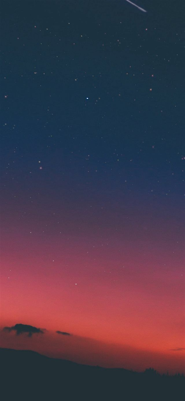 Night Sky Sunset Pink Nature Iphone X Wallpaper Wallpapers