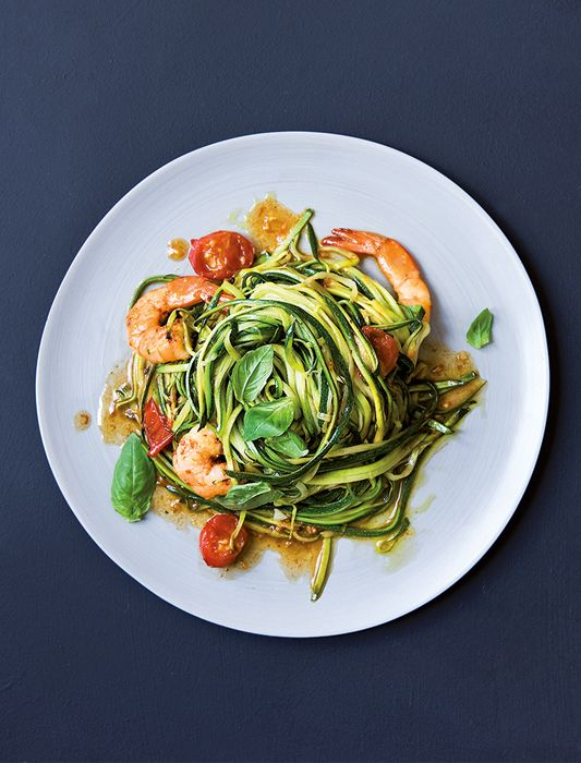 Prep Time: 20 Minutes | Cooking Time: 10 MinutesServes 4A quick and healthy dinner, this courgetti dish is a balance of simple but delicious flavours and the prawns are a good source of omega-3s, essential fatty acids that our bodies don't naturally produce.