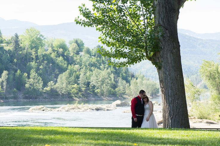Trail B.C riverside wedding beach Melina Black Photography